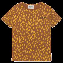 Bobo Choses T-shirt dierenprint Mocha Bisque