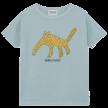 T-shirt Leopard Blue Fog