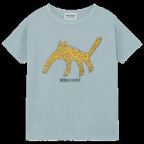 Bobo Choses T-shirt Leopard Blue Fog