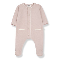 1+ in the Family Jumpsuit met voetjes ESCALA roze
