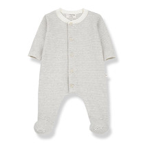 1+ in the Family Jumpsuit met voetjes MARCELLO gestreept
