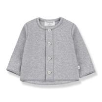 1+ in the Family T-shirt met knoopjes PIERO grijs