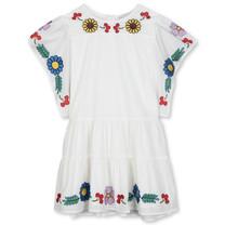Stella McCartney kids Kimono jurk wit met bloemen