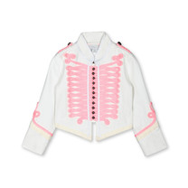 Stella McCartney kids Jas wit met roze details