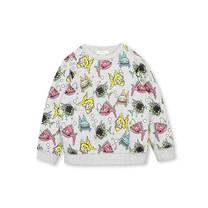 Stella McCartney kids Sweater vissen grijs