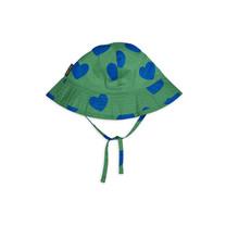 Mini Rodini Zonnehoed Hartjes groen