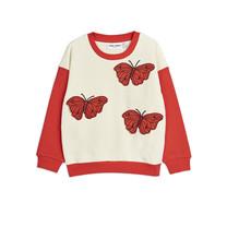 Mini Rodini Sweatshirt Butterflies rood