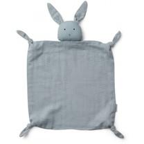 Liewood Agnete knuffeldoekje Rabbit sea blue