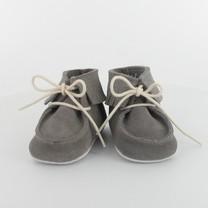 Les Petits Fils du Cordonnier babyschoentjes grey met franje