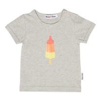Broer & Zus T-shirt raketijsje grijs melêe