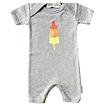 baby romper raketijsje grey