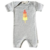 Broer & Zus baby romper raketijsje grey