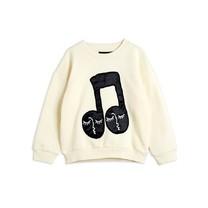Mini Rodini Note patch sweatshirt offwhite