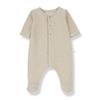 1+ in the Family ODETTE jumpsuit w/feet cream