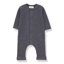 1+ in the Family HUDSON jumpsuit blue notte/beige