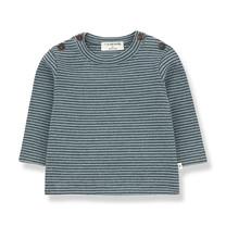 1+ in the Family JASPER t-shirt salvia/blue notte