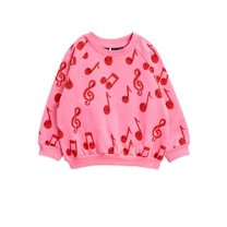 Mini Rodini Notes aop sweatshirt pink