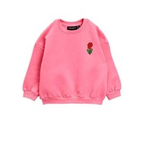 Mini Rodini Viola emb sweatshirt pink