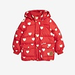 Hearts pico puffer jacket red