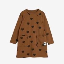Mini Rodini Hearts ls dress TENCEL brown