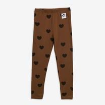 Mini Rodini Hearts leggings TENCEL brown