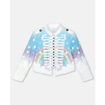 Stella McCartney kids MAGIC RAINBOW DENIM JKT