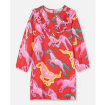 Stella McCartney kids PAINTED HORSES TWILL DRESS