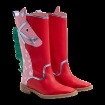 Stella McCartney kids HIGH BOOTS W/HORSE