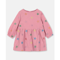 Stella McCartney kids GLITTER STARS CORDUROY DRESS