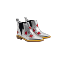 Stella McCartney kids BOOTIES W/INSERTED RED STARS