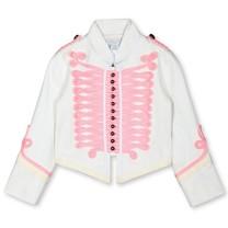 Stella McCartney kids Jas wit met roze details