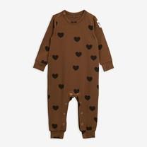 Mini Rodini Hearts jumpsuit TENCEL brown