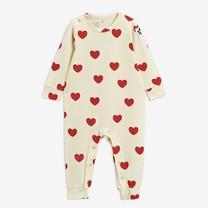 Mini Rodini Hearts jumpsuit TENCEL offwhite