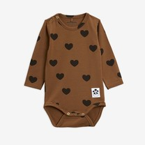 Mini Rodini Hearts ls body TENCEL brown