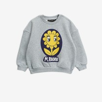 Mini Rodini Flower sp sweatshirt grey melange