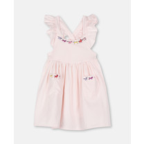 Stella McCartney kids CORDUROY DRESS W/HORSES EMB