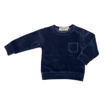 Broer & Zus Sweater baby velvet navy