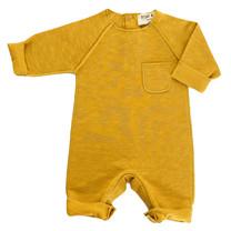 Broer & Zus Babysuit pocket mustard