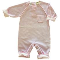 Broer & Zus Babysuit velvet pink