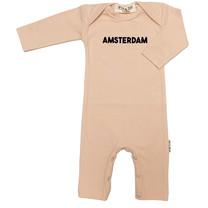 Broer & Zus Babysuit Amsterdam lsl pink