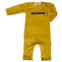 Broer & Zus Babysuit Amsterdam lsl mustard