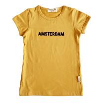 Broer & Zus T-shirt Amsterdam mustard