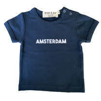 Broer & Zus Baby t-shirt Amsterdam navy