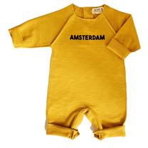 Broer & Zus Babysuit Amsterdam mustard