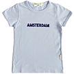 T-shirt Amsterdam lichtblauw