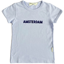 Broer & Zus T-shirt Amsterdam lichtblauw
