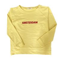 Broer & Zus Dames sweater Amsterdam jaune