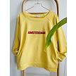 Dames sweater Amsterdam jaune