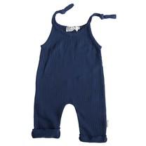 Broer & Zus Baby jumpsuit navy strikjes