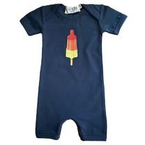 Broer & Zus Baby romper raketijsje navy
